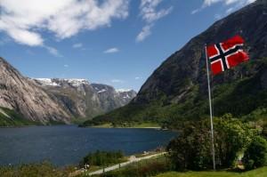 norwegia-praca-widok-flaga